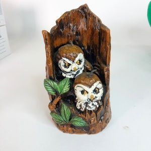 """Mid-Century Owl Candle Never Lit 6"""" x 3"""""""